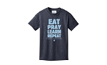 Eat Learn Pray T-Shirt Heathered Navy